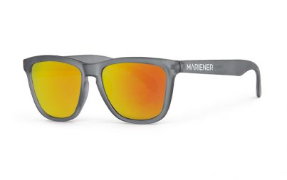 Frozen Grey Melange Sunglasses with our Orange Lava lenses