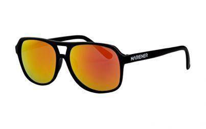 Black Motion Sunglasses with our Orange Lava lenses