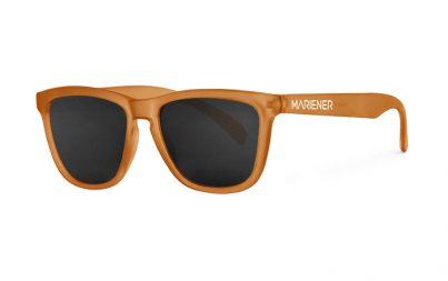 Mariener Melange  Frozen Orange Sunglasses with our reflective and polarized Dark Smoke lenses
