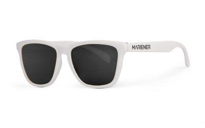 Our new Mariener Matt Black Melange Sunglasses our reflective and polarized Dark Smoke lenses