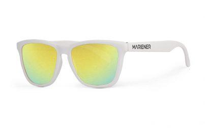 Our new Mariener Matt White Melange Sunglasses with Reflective Hyla Lens.