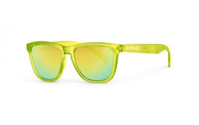 Our new Mariener Frozen Citrus Melange Sunglasses with Reflective Hyla Lens.