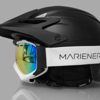 The Mariener Mountain Goggle on a Giro G10MX Helmet.