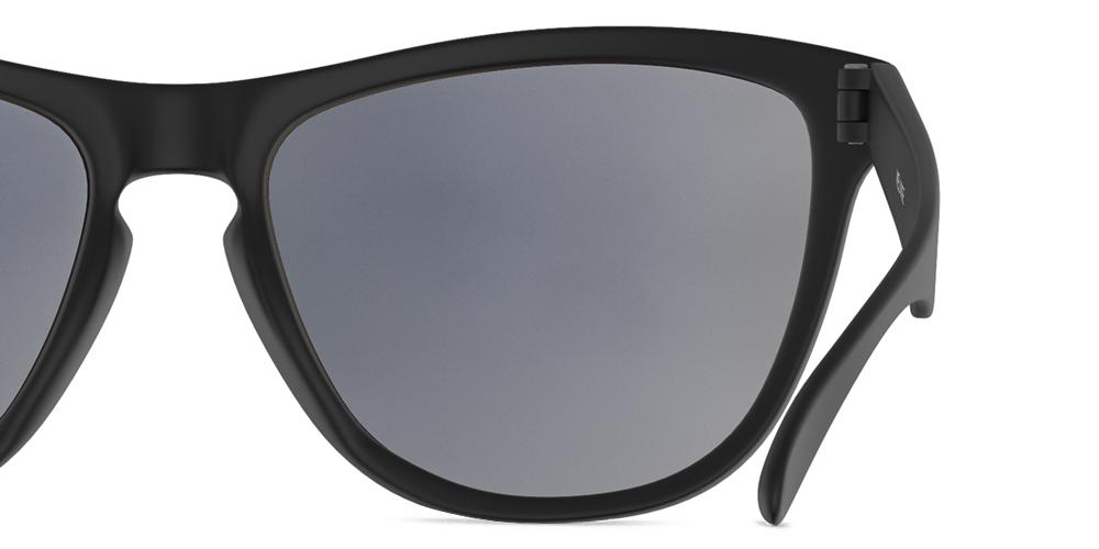 Mariener Melange Matte Black Sunglasses Backside