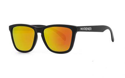 Black Melange Sunglasses with our Orange Lava lenses