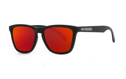 Our new Mariener Matt Black Melange Sunglasses with Reflective Red Lava Lens.