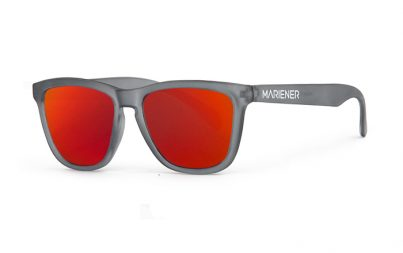 Frozen Grey Melange Sunglasses with our Red Lava lenses