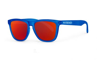 Frozen Blue Melange Sunglasses with our Red Lava lenses