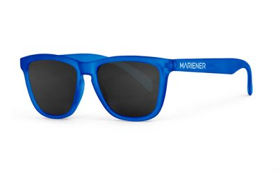 Mariener Melange  Frozen Blue Sunglasses with our reflective and polarized Dark Smoke lenses