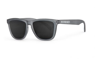 Mariener Melange  Frozen Grey Sunglasses with our reflective and polarized Dark Smoke lenses
