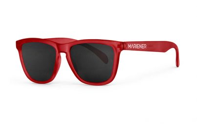 Mariener Melange  Frozen Red Sunglasses with our reflective and polarized Dark Smoke lenses
