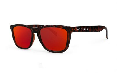 Mariener Melange Tortoise Sunglasses with our reflective Red Lava lenses