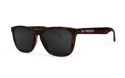 Mariener Melange Tortoise Sunglasses with our reflective and polarized Dark Smoke lenses