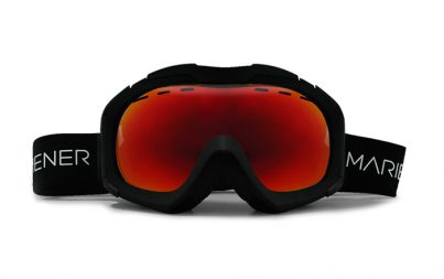 A full option spherical Mariener Mountain Ski/Snowboard Goggle with Hydrophobic Red Lava lens