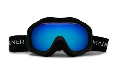 A full option spherical Mariener Mountain Ski/Snowboard Goggle with Hydrophobic Sky Lens