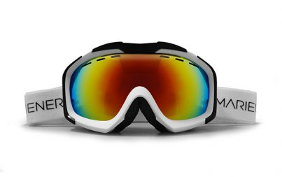 A full option spherical Mariener Mountain Ski/Snowboard Goggle with Rainbow lens