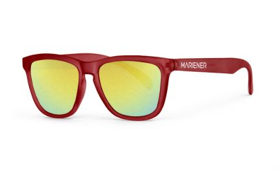 Our new Mariener Frozen Red Melange Sunglasses with Reflective Hyla Lens.