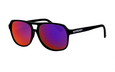Black Motion Aviator Sunglasses with our reflective Purple Lava lenses