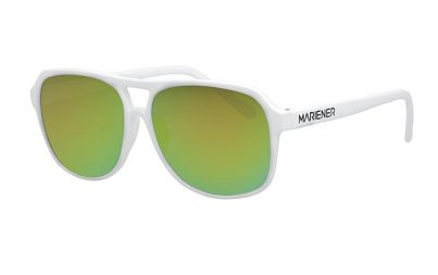 White Motion Aviator Sunglasses with our reflective Jungle lenses