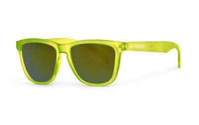 Our new Mariener Frozen Citrus Melange Sunglasses with Reflective Jungle Lens.