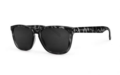 Mariener Melange Tortoise Black Sunglasses with our reflective and polarized Dark Smoke lenses