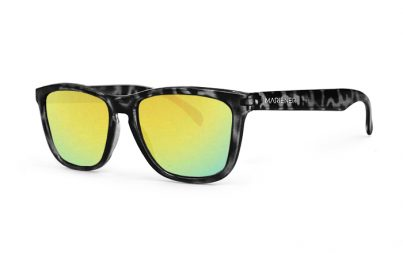 Tortoise Black Melange Sunglasses with our Reflective Hyla lenses