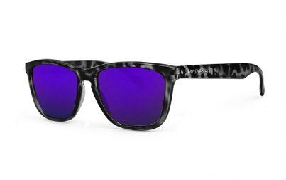 Tortoise Black Melange Sunglasses with our Reflective Indigo lenses