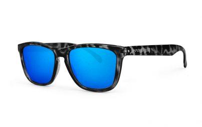 Tortoise Black Melange Sunglasses with our Reflective Sky lenses