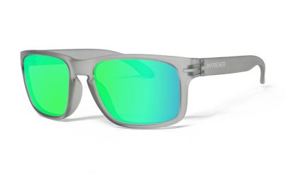 Frozen Grey Makan Sunglasses with our Reflective Lime lenses