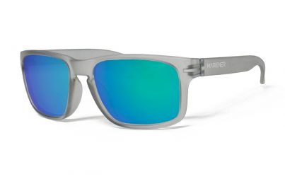 Frozen Grey Makan Sunglasses with our Reflective Ocean lenses