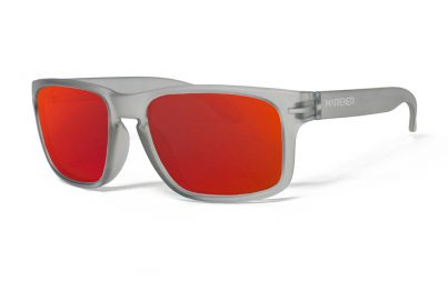 Frozen Grey Makan Sunglasses with our Reflective Red Lava lenses