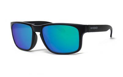 Matt Black Makan Sunglasses with our Reflective Ocean lenses