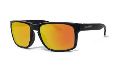 Matt Black Makan Sunglasses with our Reflective Orange Lava lenses