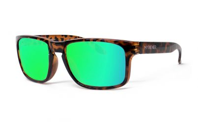 Tortoise Makan Sunglasses with our Reflective Lime lenses