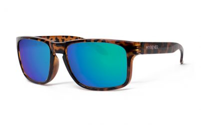 Tortoise Makan Sunglasses with our Reflective Ocean lenses