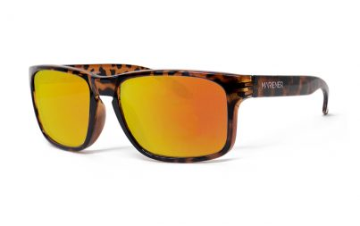 Tortoise Makan Sunglasses with our Reflective Orange Lava lenses