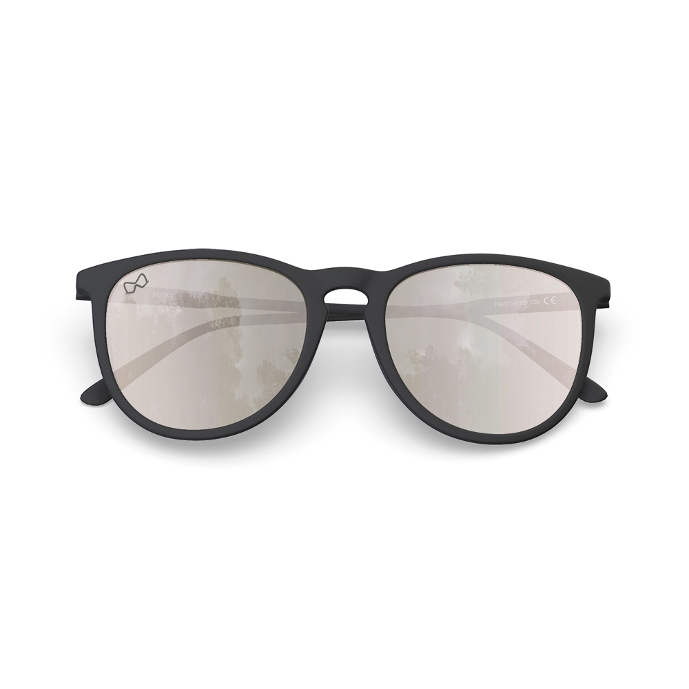 Mariener-Maki-Round-Rubber-Matte-Black-Amber-Silver-Sunglasses-Zwarte-Zonnebril-Overview