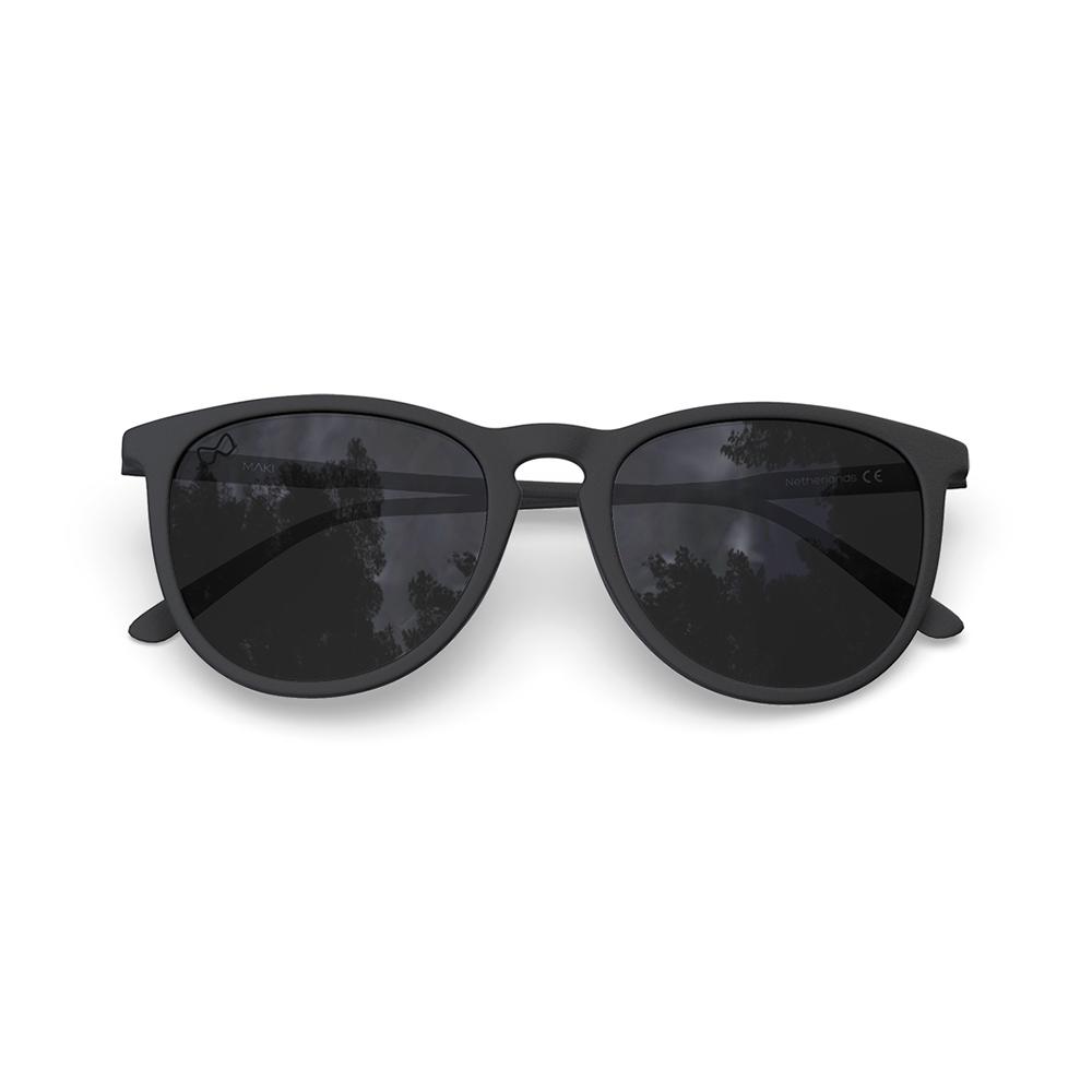 Mariener-Maki-Round-Rubber-Matte-Black-Dark-Smoke-Polarized-Sunglasses-Gepolariseerde-Zwarte-Zonnebril-Overview