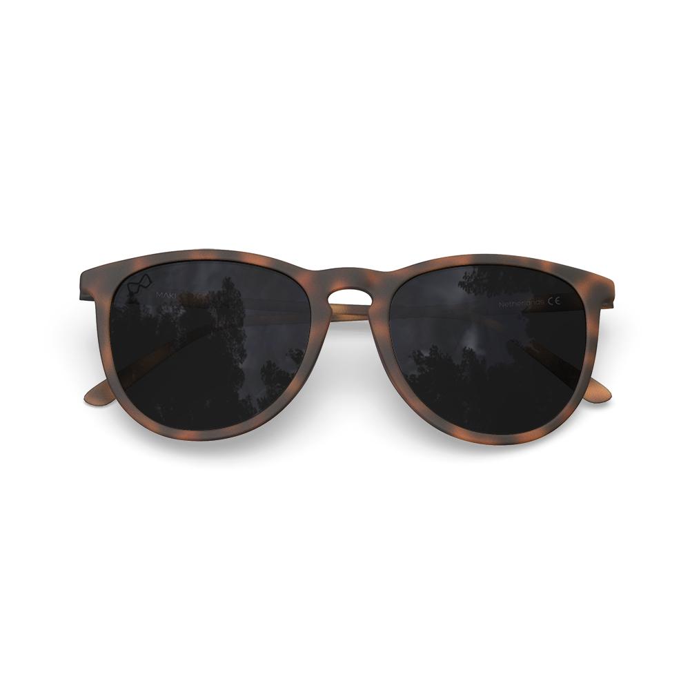 Mariener-Maki-Round-Rubber-Tortoise-Dark-Smoke-Polarized-Sunglasses-Gepolariseerde-Bruine-Zonnebril-Overview