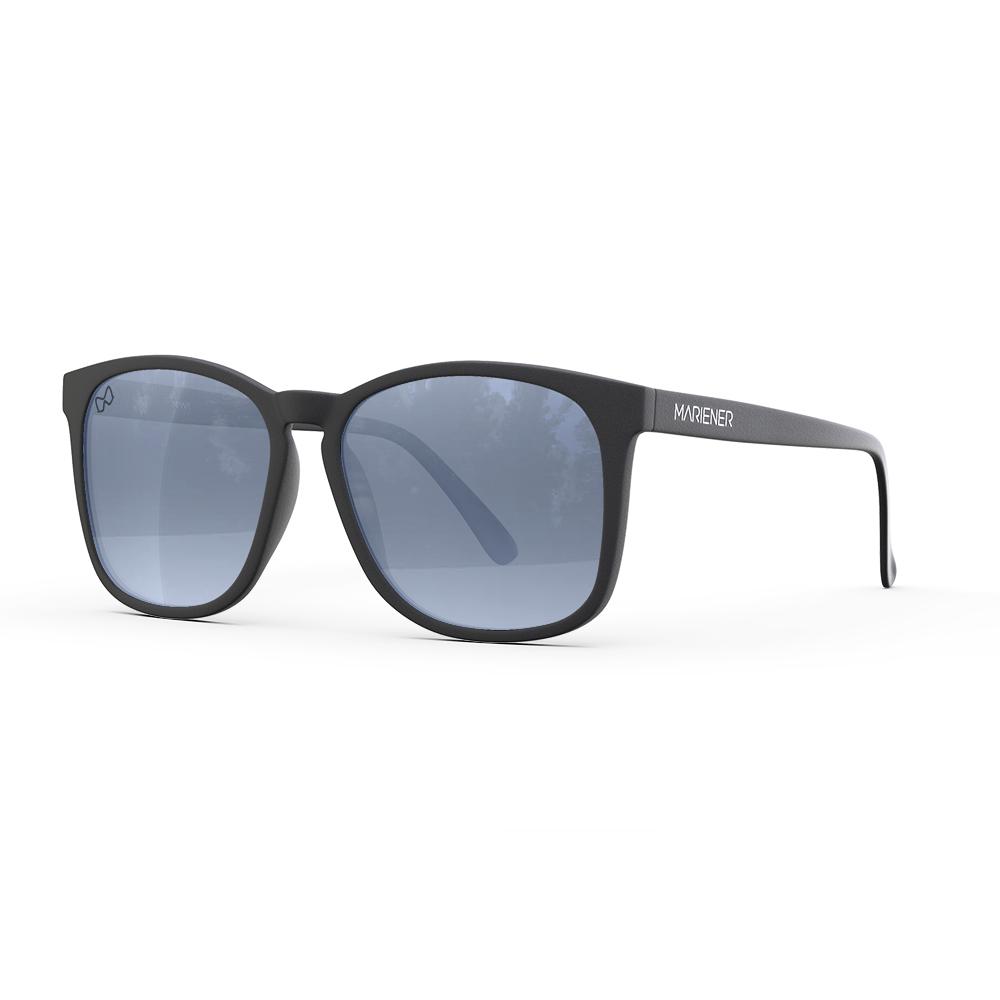 Mariener-Mana-Rubber-Matte-Black-Zwart-Dark-Silver-Oversized-Round-Sunglasses-Gepolarizeerde-Zonnebril-Angle