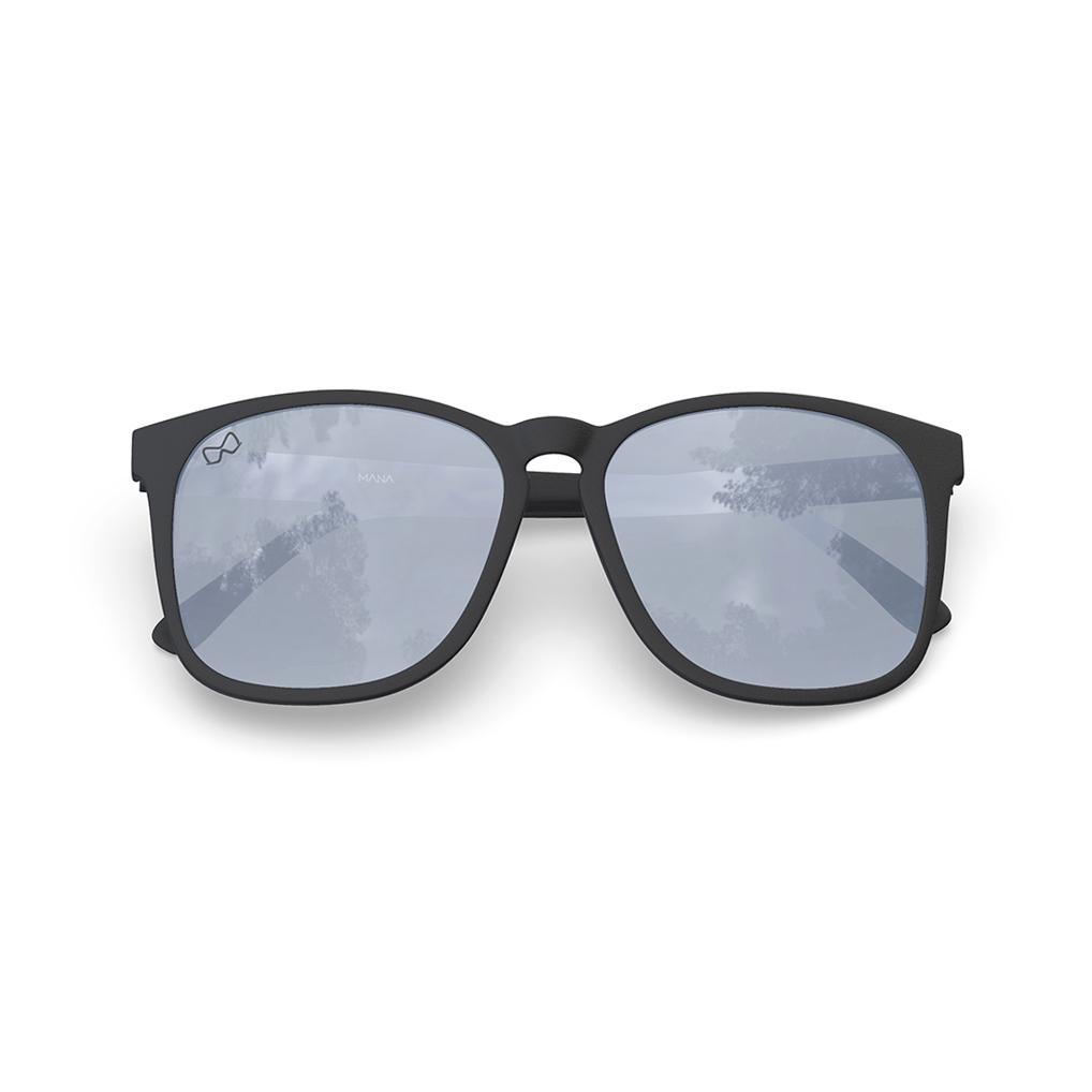 Mariener-Mana-Rubber-Matte-Black-Zwart-Dark-Silver-Oversized-Round-Sunglasses-Gepolarizeerde-Zonnebril-Overview
