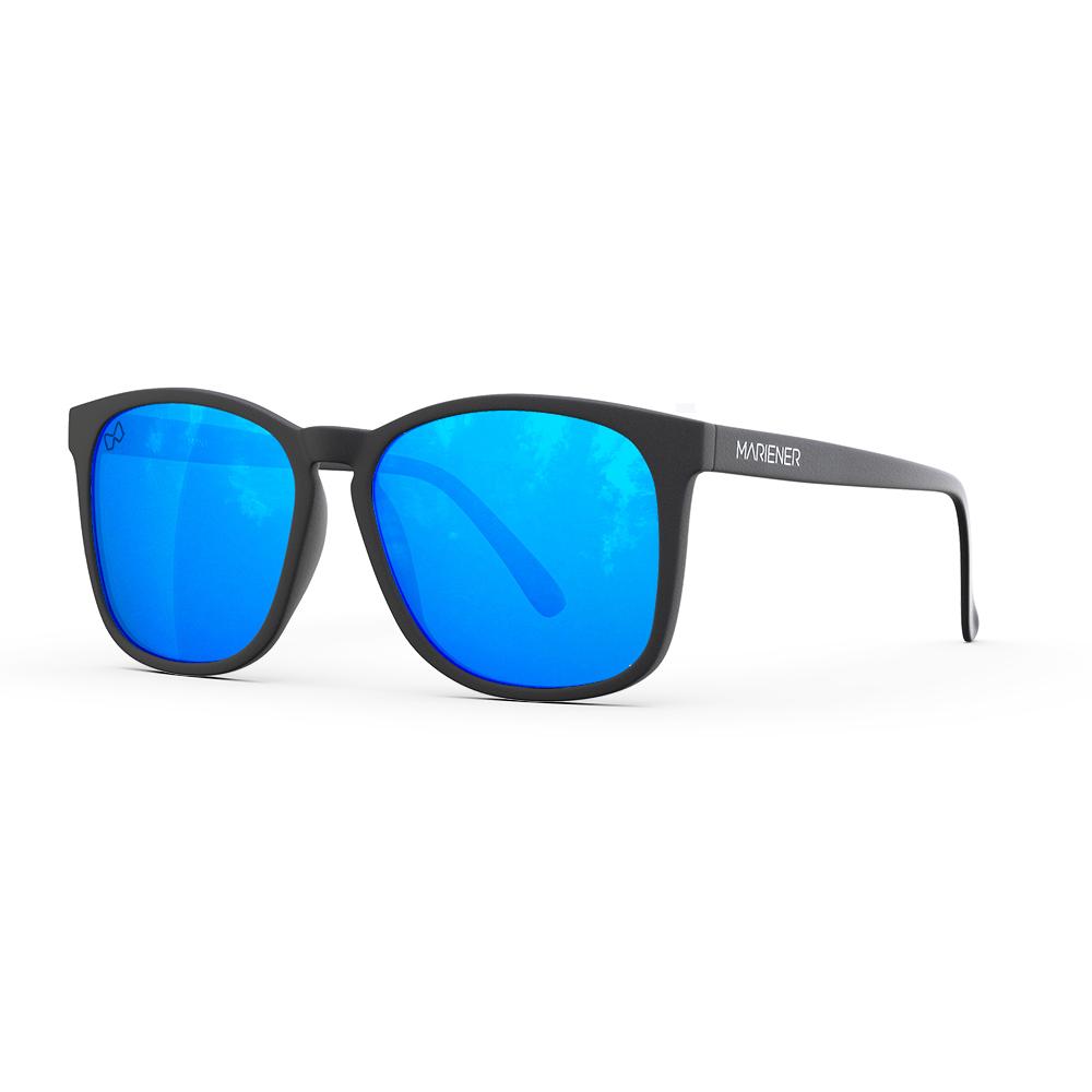 Mariener-Mana-Rubber-Matte-Black-Zwart-Sky-Blue-Oversized-Round-Sunglasses-Gepolarizeerde-Zonnebril-Angle
