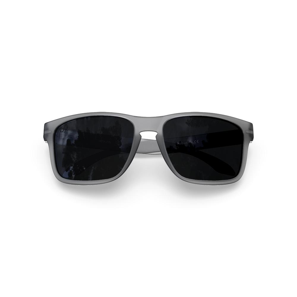 Mariener-Melange-Makan-Frozen-Grey-Dark-Smoke-Polarized-Adult-Sunglasses-Zonnebril-Gepolariseerd-Volwassenen-Folded