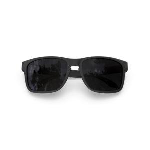 Makan – Matte Black | Dark Smoke Polarized Rectangular Sunglasses