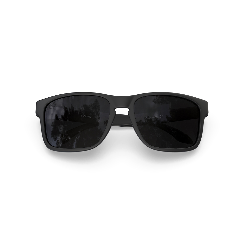 Mariener-Melange-Makan-Matte-Black-Dark-Smoke-Polarized-Adult-Sunglasses-Zonnebril-Gepolariseerd-Volwassenen-Folded