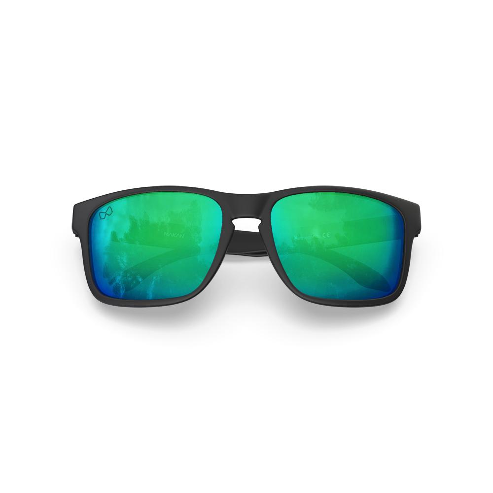 Mariener-Melange-Makan-Matte-Black-Ocean-Adult-Sunglasses-Zonnebril-Volwassenen-Folded
