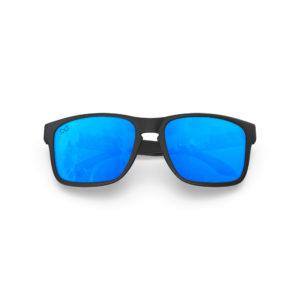 Makan – Matte Black Rubber | Sky Rectangular Sunglasses