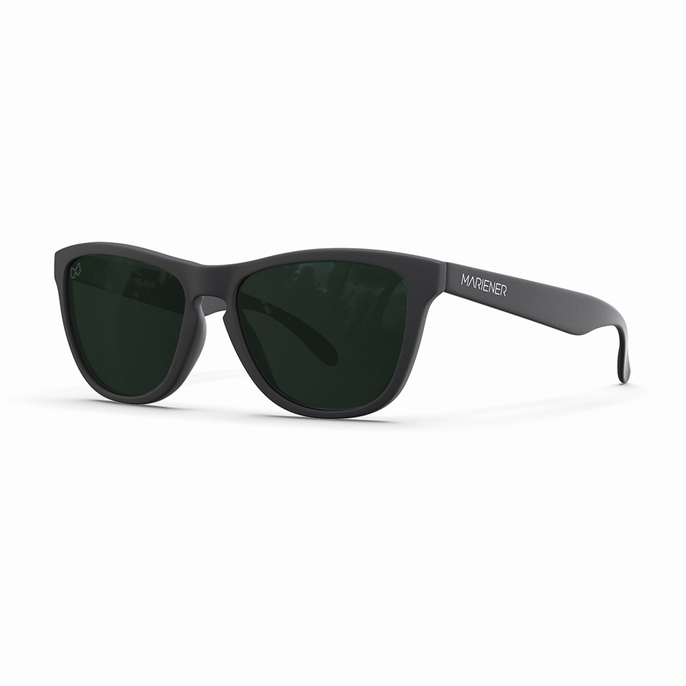 Mariener-Melange-Wayfarer-Rubber-Matte-Black-Dark-Green-Polarized-Wayfarer-Sunglasses-Gepolariseerde-Zwarte-Zonnebril-Angle