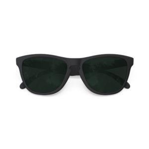 Melange – Matte Black Rubber | Dark Green Polarized Wayfarer Sunglasses
