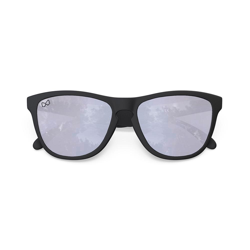 Mariener-Melange-Wayfarer-Rubber-Matte-Black-Dark-Silver-Wayfarer-Sunglasses-Zwarte-Zonnebril-Overview